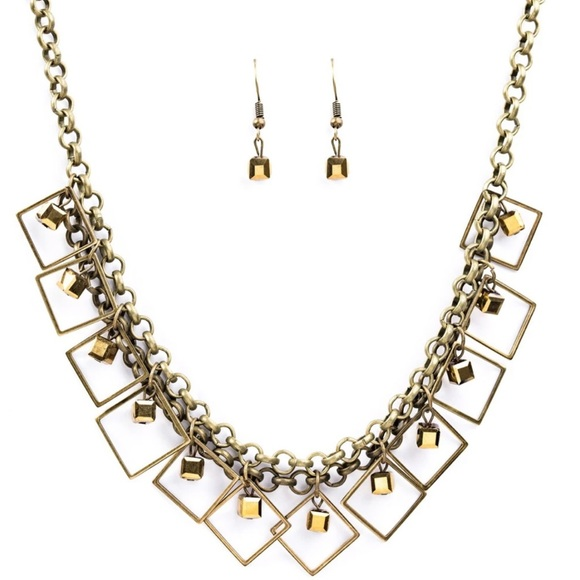 4/$20 GEO DOWN IN HISTORY - NECKLACE - PAPARAZZI